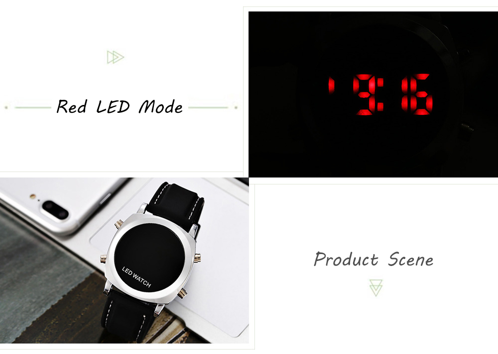 Round LED Sports Watch with 12 / 24 Hours Format