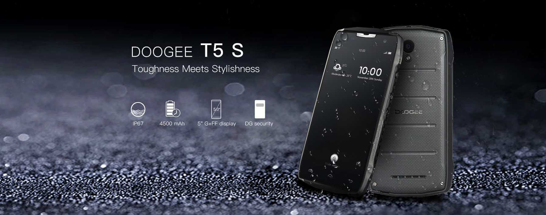 DOOGEE T5S Android 6.0 5.0 inch 4G Smartphone MTK6735 Quad Core 1.0GHz 2GB RAM 16GB ROM Bluetooth 4.0