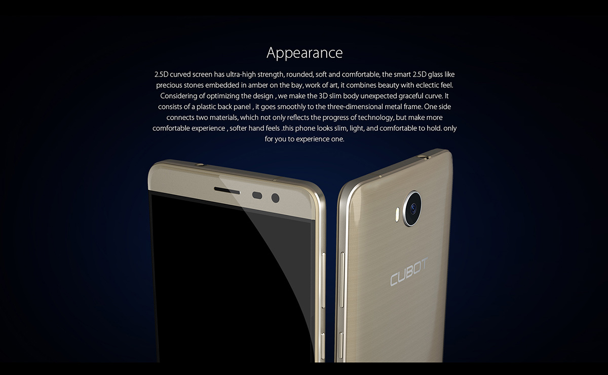 Cubot CHEETAH 2 Android 6.0 5.5 inch 4G Phablet MTK6753 Octa Core 1.3GHz 3GB RAM 32GB ROM 8.0MP + 13.0MP Fingerprint Scanner