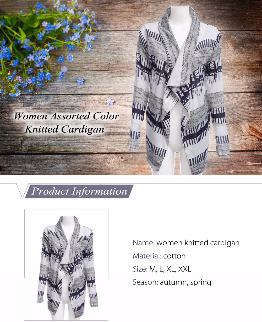 Women Assorted Color Knitted Cardigan
