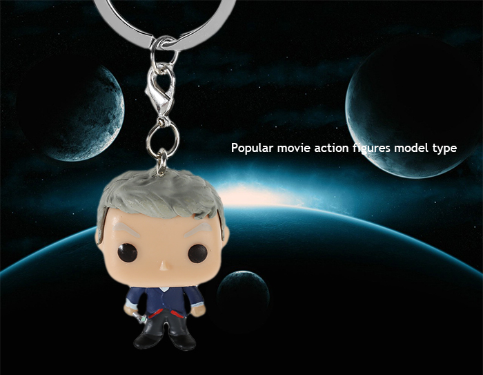 Alloy + PVC Key Chain Keyring Movie Product Children Gift - 1.57 inch