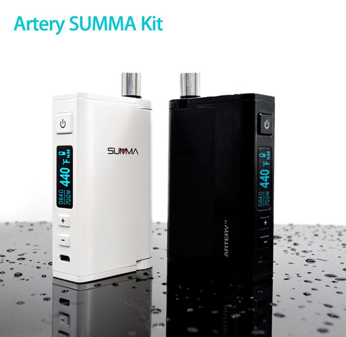 Original Artery SUMMA 70W Kit with Multiple Modes / All-in-one Design / 0.5 - 8V / 200 - 600F / 100 - 300C / 5ml Capacity / 0.5 ohm for E Cigarette