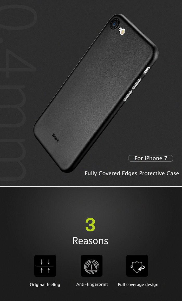 Benks PP Material Ultra-thin Phone Protective Case for iPhone 7 Anti-fingerprint Protector