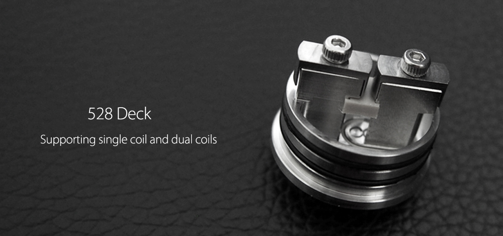 Original Cthulhu Shuriken RDA 24mm with 528 Deck / Side Adjustable Airflow / Single Coil / Dual Coils Building / 24mm Diameter for E Cigarette
