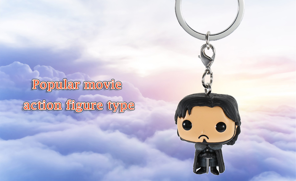Key Chain Alloy + PVC Hanging Pendant Keyring Movie Product - 1.57 inch