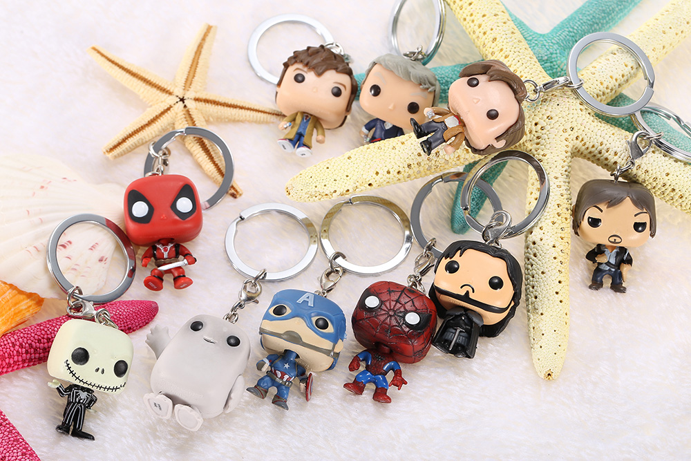 1.57 inch Alloy + PVC Key Chain Hanging Pendant Keyring Movie Product