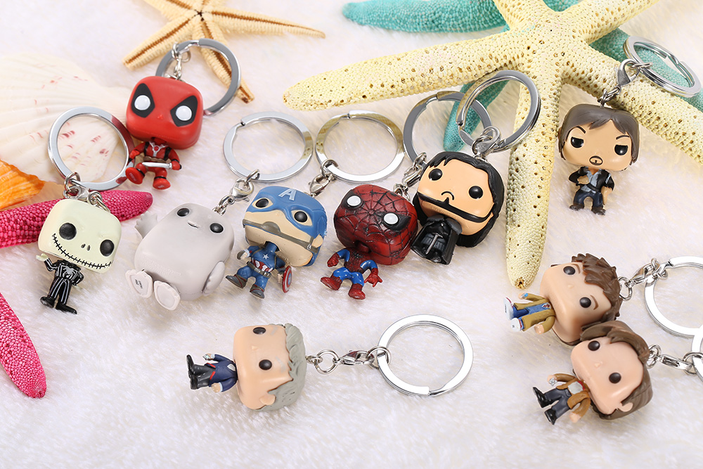 Alloy + PVC Key Chain Hanging Pendant Keyring Movie Product - 1.57 inch