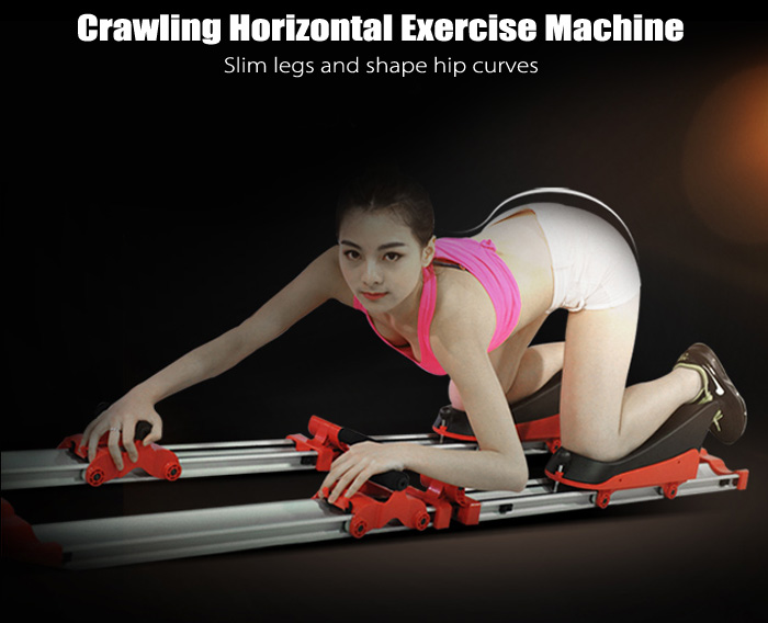 Full Body Crawling Horizontal Exercise Machine Muscle Belly Waist Back Fitness Tool