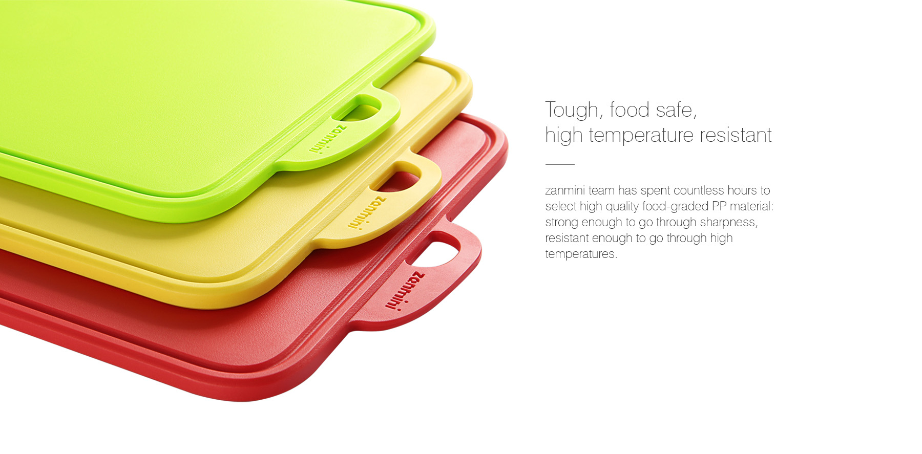 zanmini Color-coded Food Graded PP Cutting Board