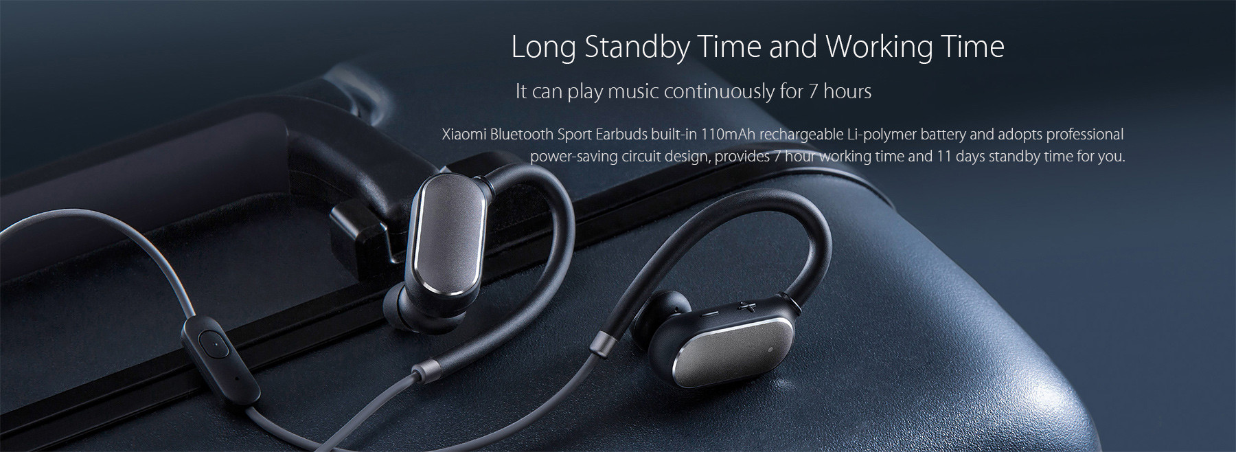 Xiaomi Bluetooth 41 Music Sport Earbuds Support Handsfree Calls  Volume Control Song Switch