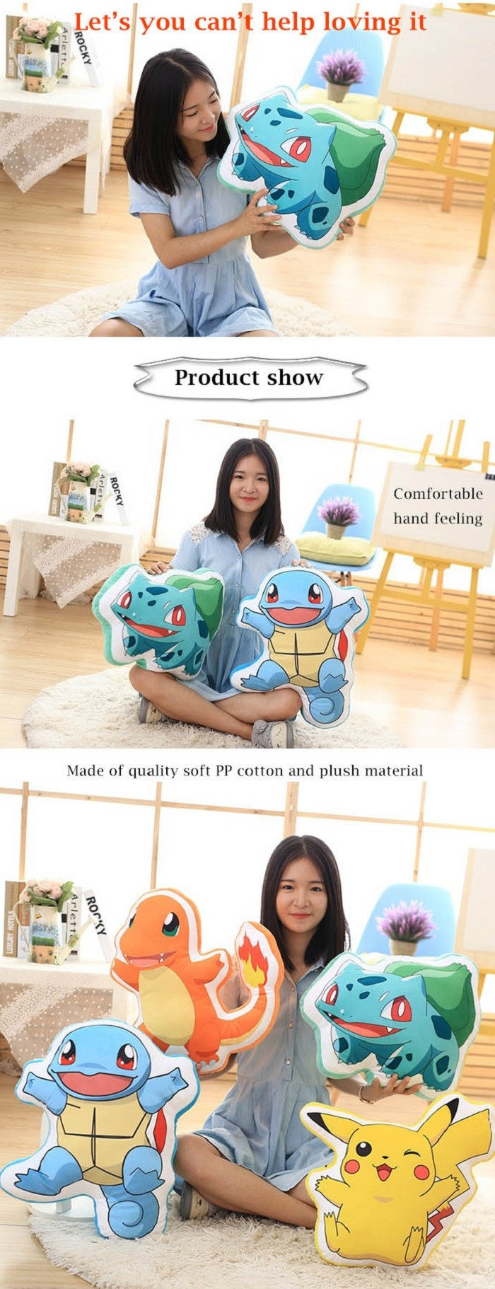 Animation Figure Plush Toy Stuffed Doll Decoration Gift - 15.7 inch