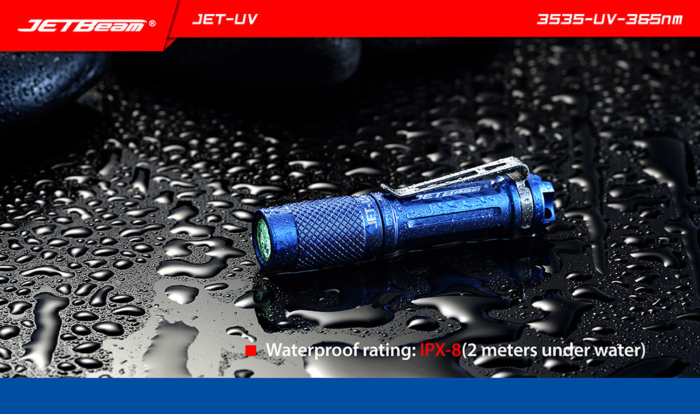 JETBeam JET - UV 365nm 3535 UV LED Flashlight Keychain Light