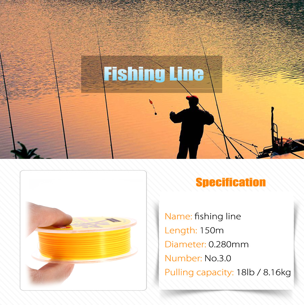 150m Wear-resistant Nylon No.3.0 Fishing Line