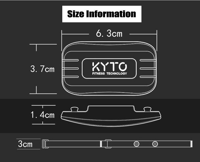KYTO HRM - 2830B Bluetooth 4.0 Heart Rate Monitor ANT+ Sports Real-time Heartbeat Monitoring Chest Strap