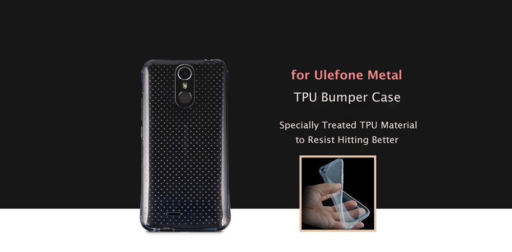 Original TPU Soft Protective Phone Back Case for Ulefone Metal Transparent Mobile Shell