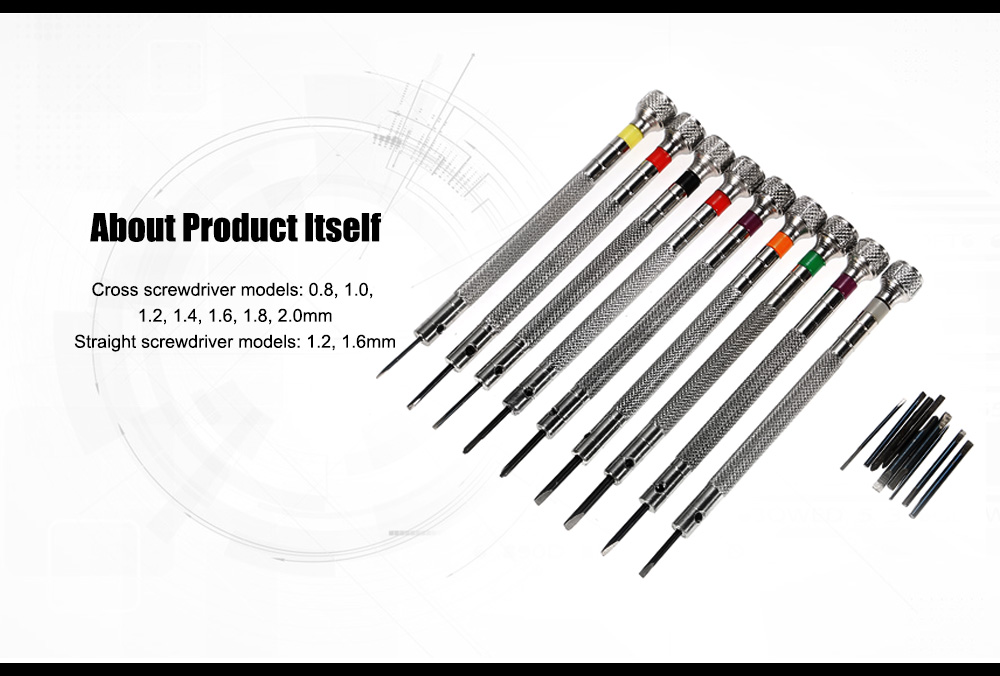 9 Models Screwdrivers Set with Stainless Steel Material
