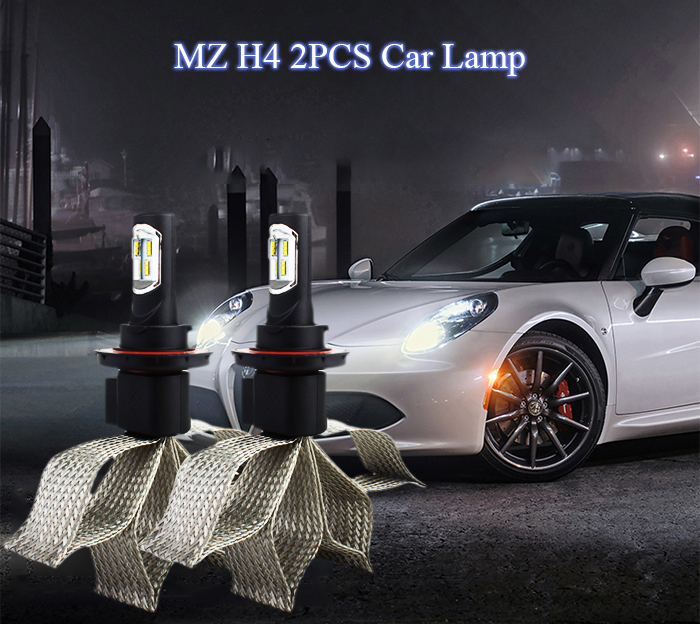 MZ H4 2PCS Car Lamp 30W 6000K 4800LM 9V - 30V