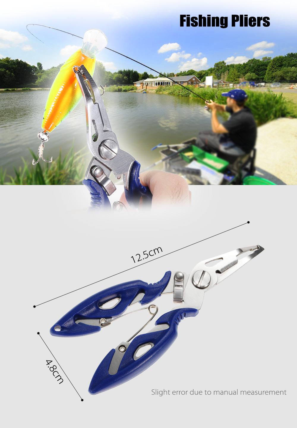 Mini Stainless Steel Fishing Pliers Wire Cutter Hook Remover