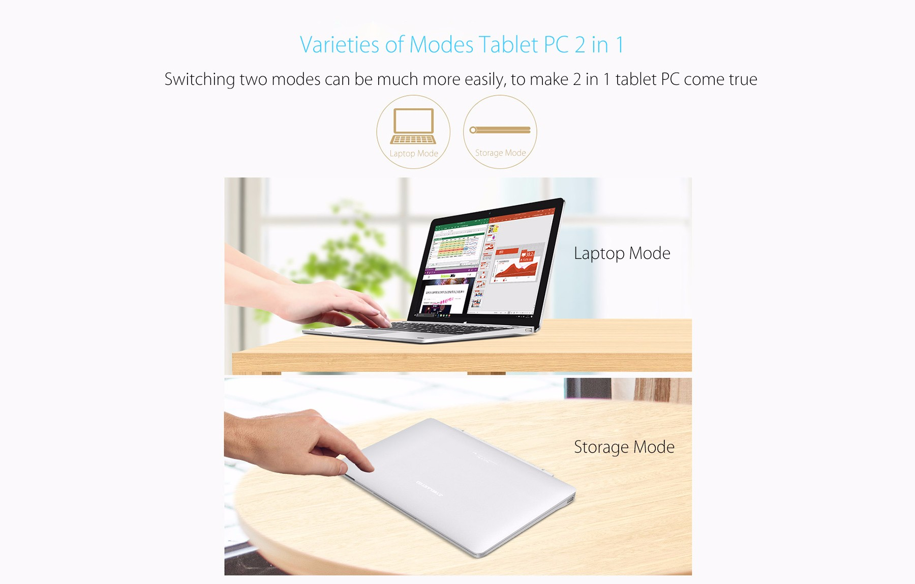 Original Teclast TBook 12 Pro Keyboard Multi Mode Rotary Shaft Magnetic Docking Pogo Pin Separable Design