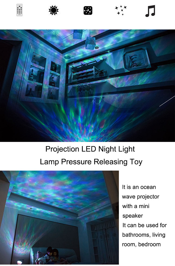 LED Night Light Projector Lamp Ocean Theme for Party Kid Bedroom