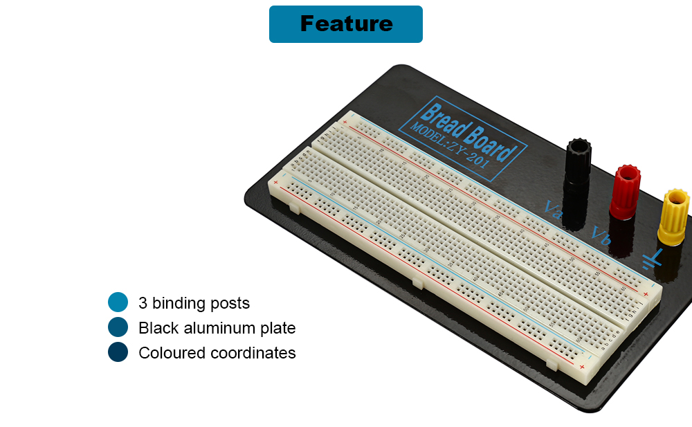 ZY - 201 Solderless 630 Hole Bread Board for Testing