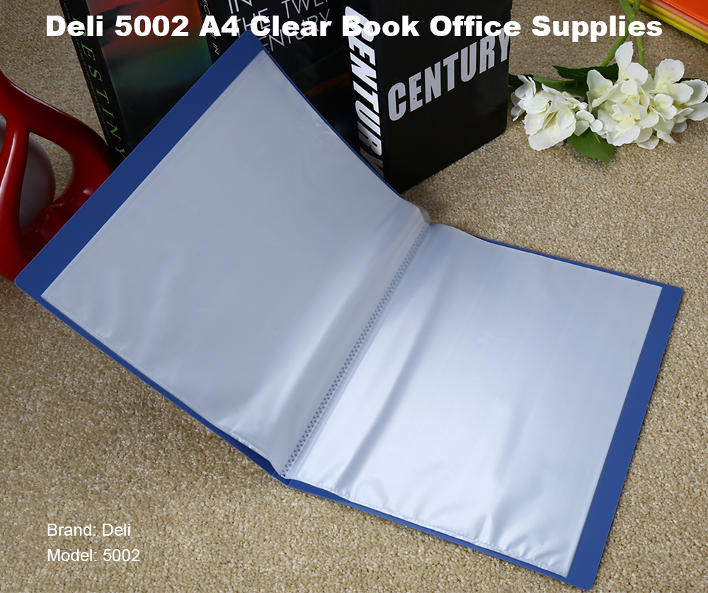 Deli 5002 Clear Book A4 Document Bag
