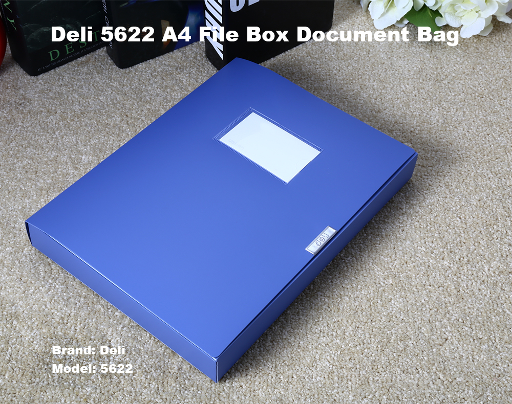 Deli 5622 A4 File Box Document Bag Office Supplies