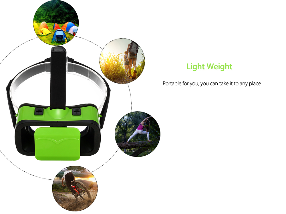 VR - 6 3D Glasses with IPD Adjustment for 4.7 - 6.0 inch Phones