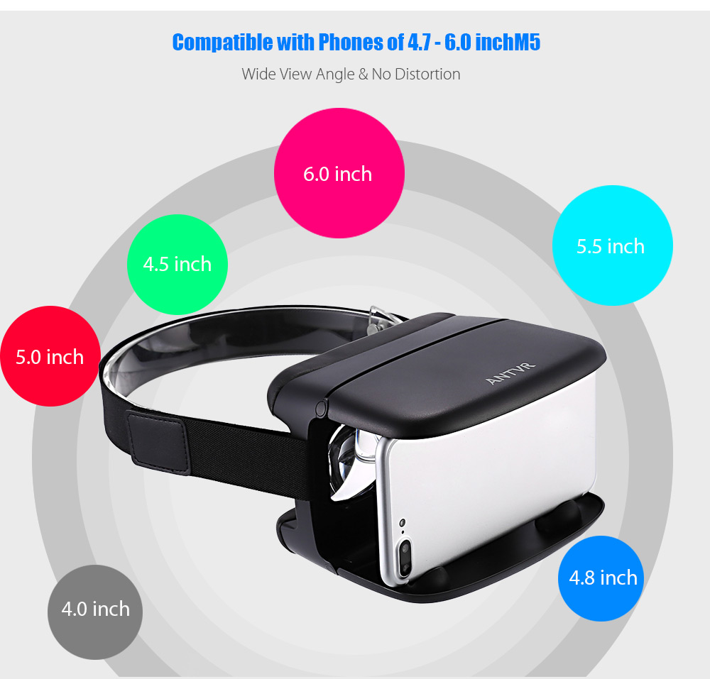 ANTVR Xiaomeng VR 3D Glasses with IPD Adjustment for 4.7 - 6.0 inch Phones