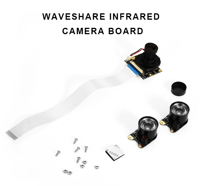 Waveshare Infrared Raspberry Pi Camera Board V1.3 with 1/4 inch Adjustable Lens