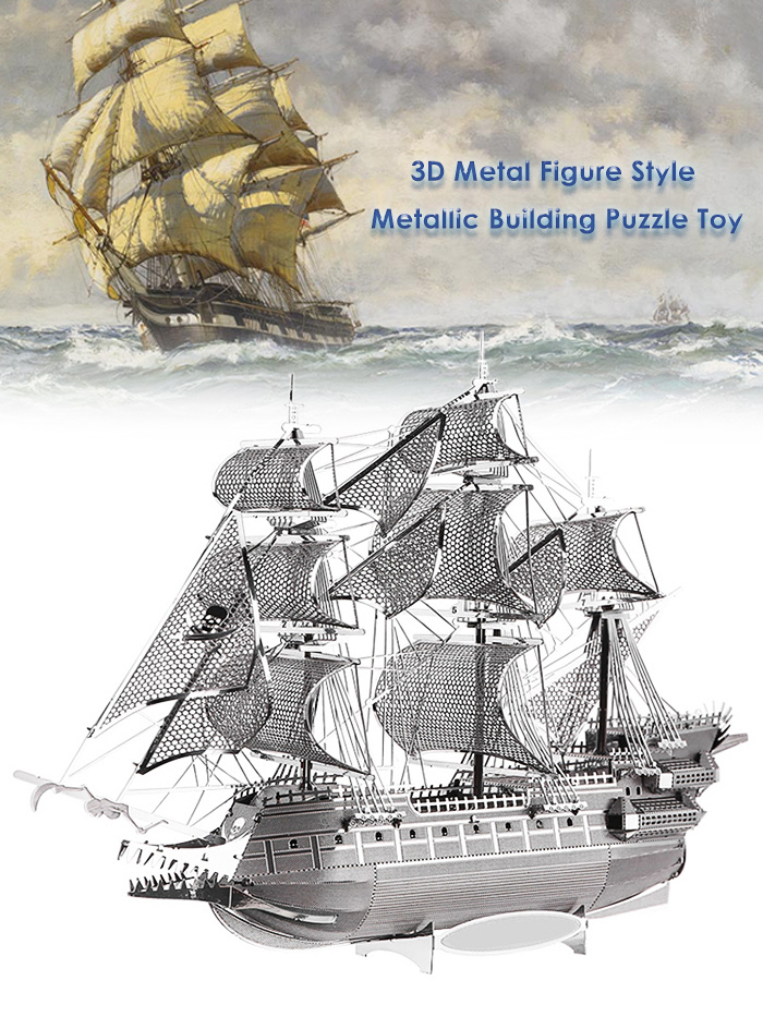 ZOYO Ship Model 3D Metallic Building Puzzle Educational Assembling Toy