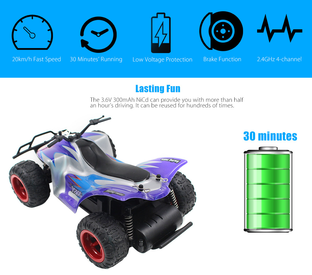 PXtoys 9602 1:22 4WD RC Off-road Car RTR 20km/h 2.4GHz 4CH with Brake Low Voltage Protection