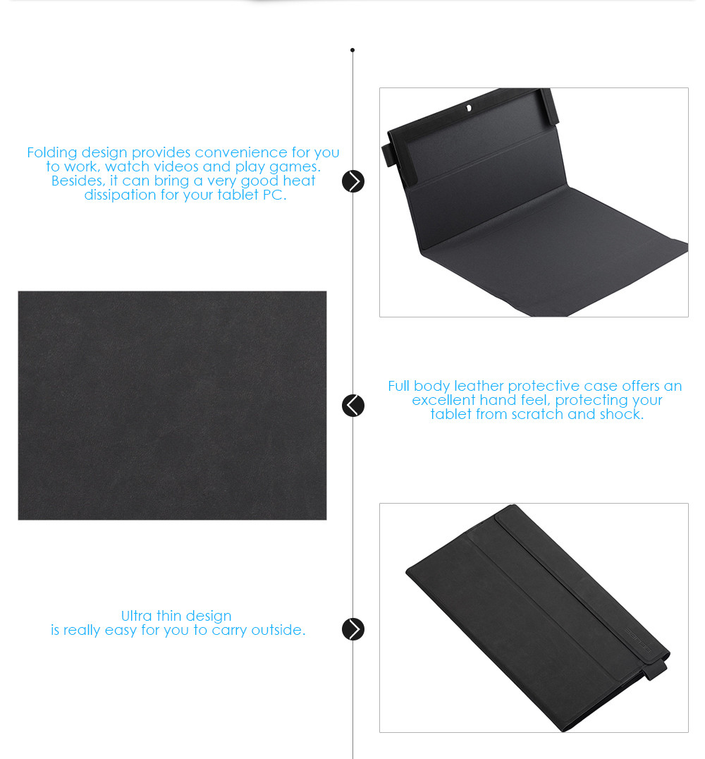 OCUBE Full Body PU Protective Case for Cube i7 book / iWork 11 / i7 Stylus with Folding Design