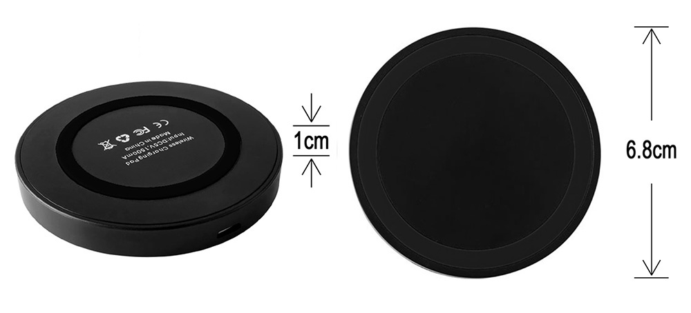 Qi Standard Wireless Charger Transmitter Type-C Charging Receiver Ultra-thin Mini Launcher Pad