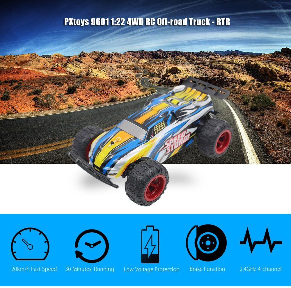 PXtoys 9601 1:22 4WD RC Off-road Car RTR 20km/h 2.4GHz 4CH with Brake Low Voltage Protection