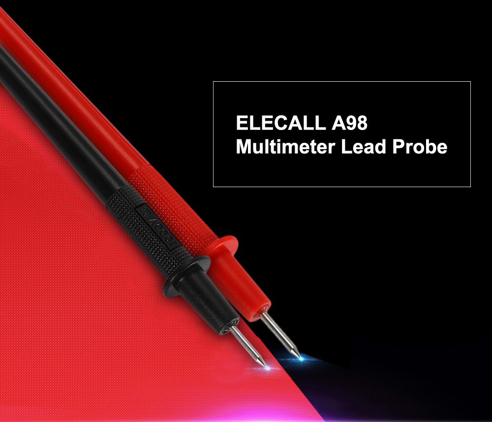 ELECALL A98 Universal Multimeter Lead Probe with Connector Cable for Testing