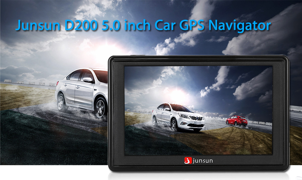Junsun D200 5.0 inch GPS Navigation System for Car Vehicles