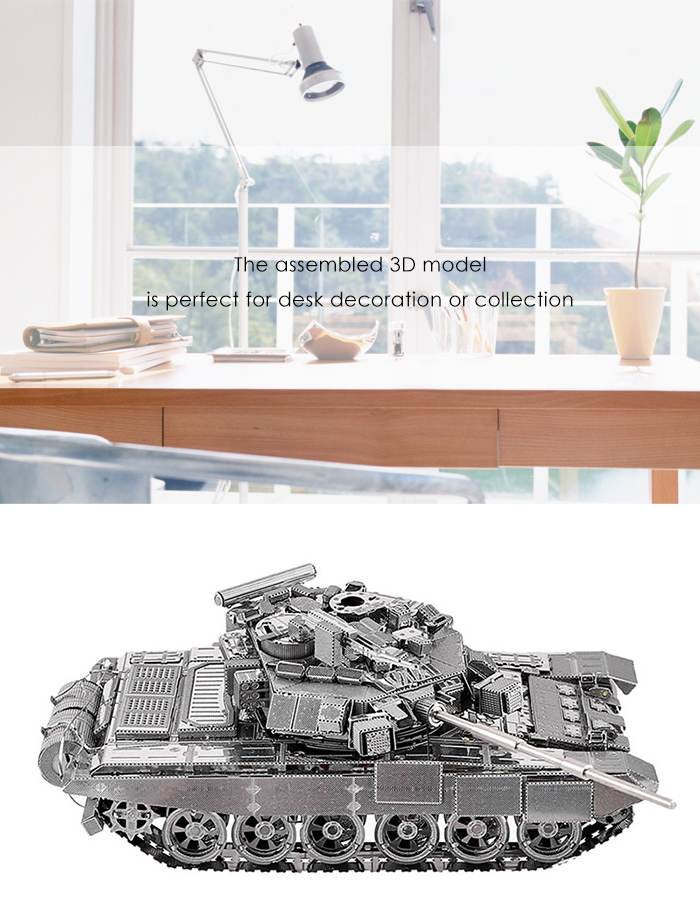 ZOYO Tank Style 3D Metallic Building Puzzle Educational Assembling Toy