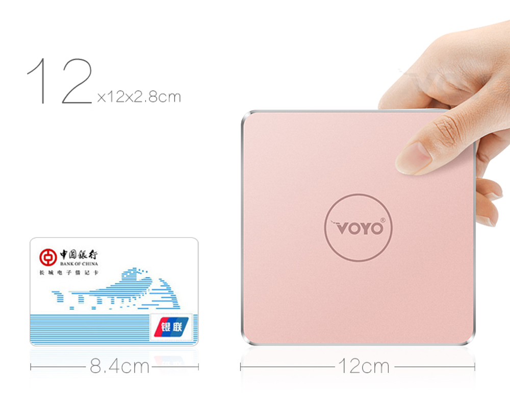 VOYO V1 Mini PC Apollo LakeN4200 Quad Core CPU Windows 10.1 with 32GB eMMC + 128GB SSD