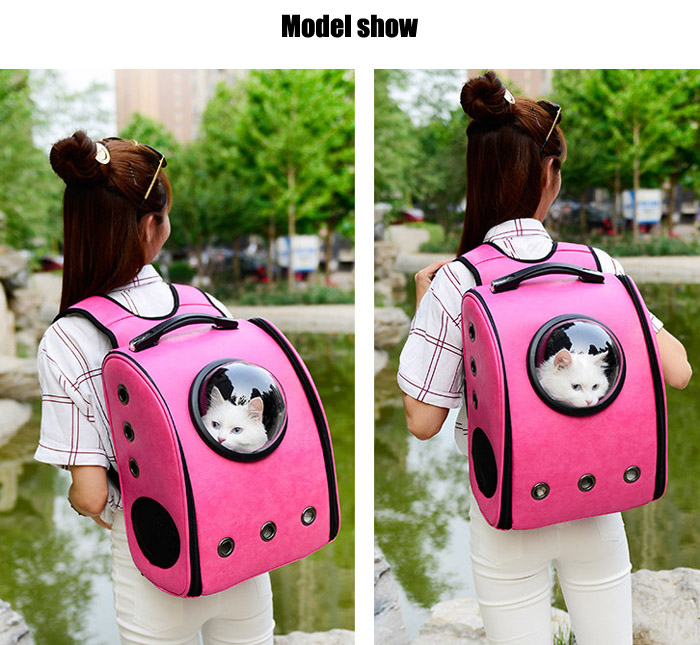 Outdoor Travel Astronaut Space Capsule Bubble Pet Carrier Backpack for Small Animal Dog Cat