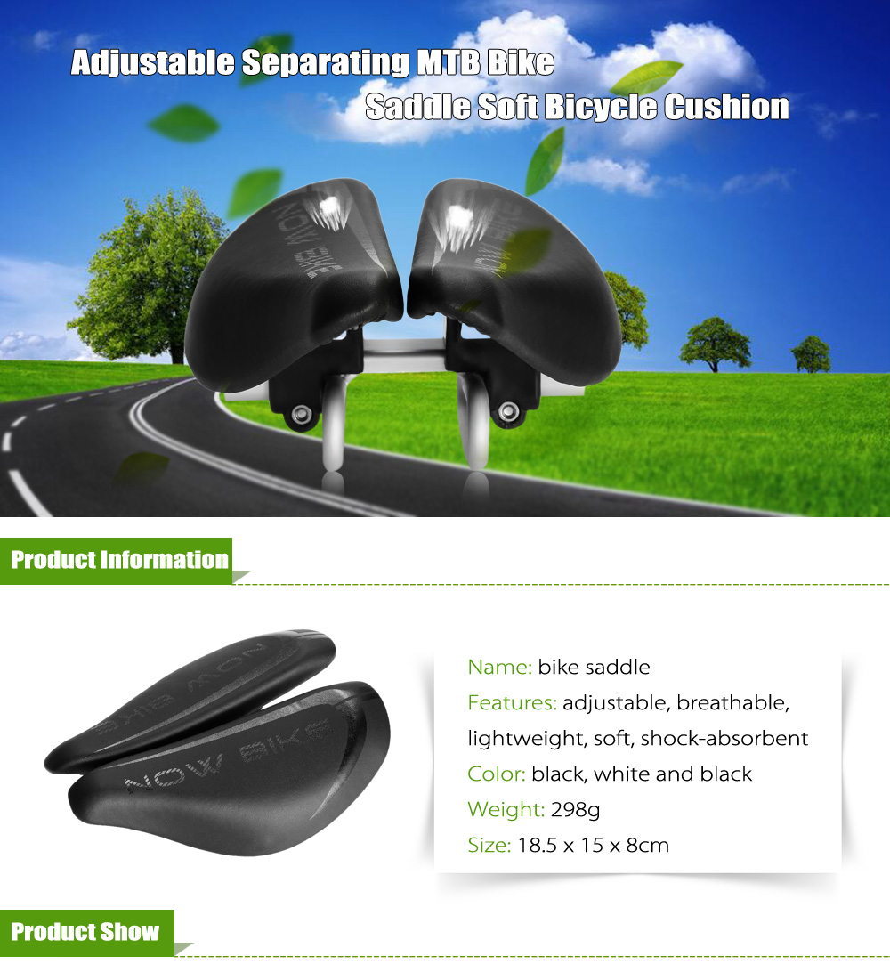 Adjustable Bicycle Cushion Soft Bike Saddle Cycling Accessories