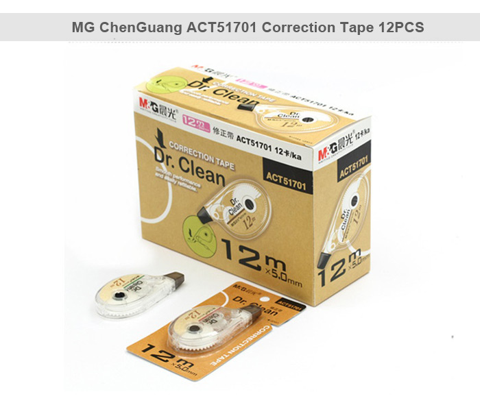 MG ChenGuang ACT51701 Corrective Tape 12PCS Office Accessories 5mm