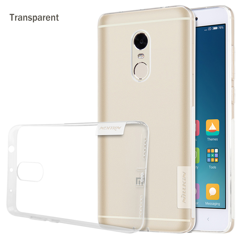 Nillkin TPU Soft Transparent Protective Phone Case for Xiaomi Redmi Note 4 Flexible Mobile Shell