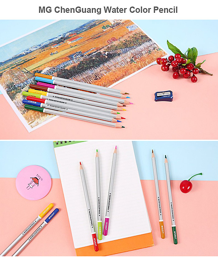 MG ChenGuang 24 Color Assorted Water Soluble Pencil
