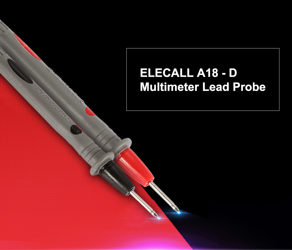 ELECALL A18 - D Universal Multimeter Lead Probe with Connector Cable for Testing