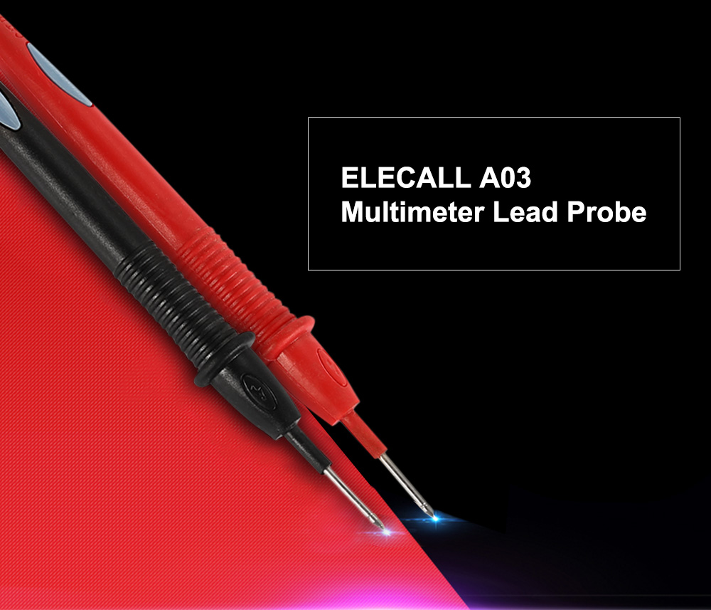 ELECALL A03 Universal Multimeter Lead Probe with Connector Cable for Testing