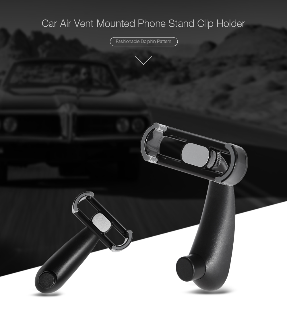 Dolphin Design Car Air Vent Mounted Phone Stand Holder Clip Bracket 360 Degree Rotation