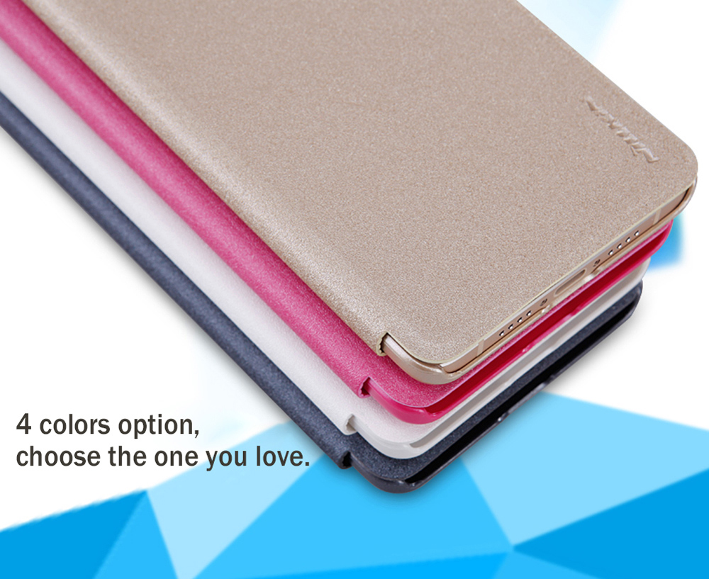 Nillkin Full Body Cover Frosted Protective Case for Xiaomi 5S Plus Auto Wake-up Sleep Function PU Leather Mobile Shell