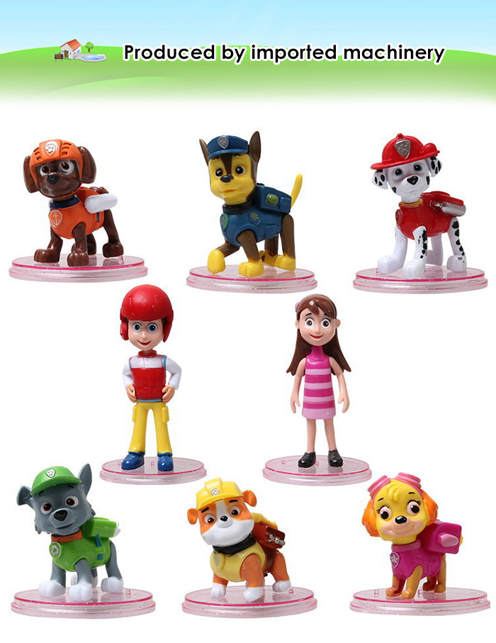 ABS + PVC Action Figure Animation Collectible Figurine - 8pcs