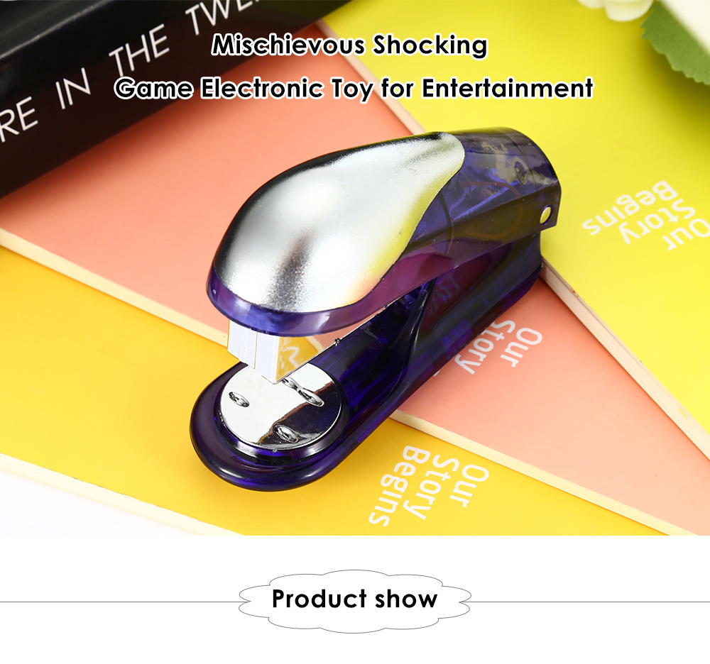 Practical Shocking Stapler Style Mischievous Electronic Toy for Entertainment